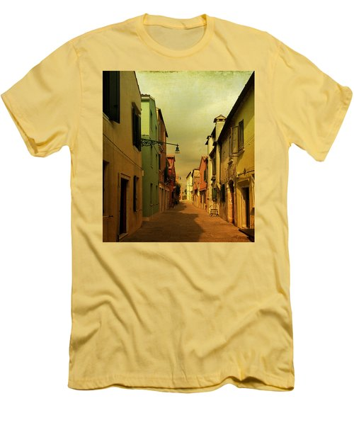Men's T-Shirt (Slim Fit) featuring the photograph Malamocco Perspective No1 by Anne Kotan