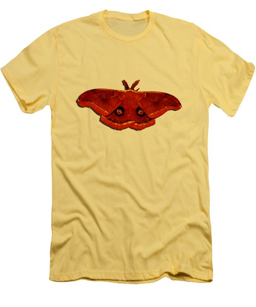 Men's T-Shirt (Slim Fit) featuring the photograph Male Moth Red .png by Al Powell Photography USA