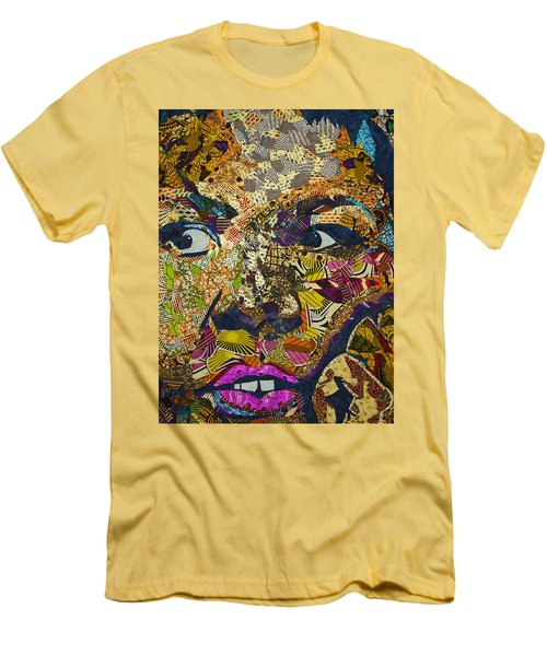 Men's T-Shirt (Athletic Fit) featuring the tapestry - textile Mama's Watching by Apanaki Temitayo M