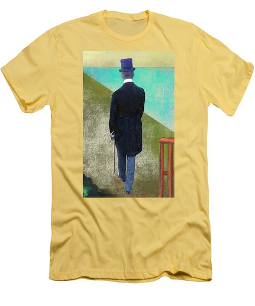 Man In Hat Men's T-Shirt (Slim Fit)