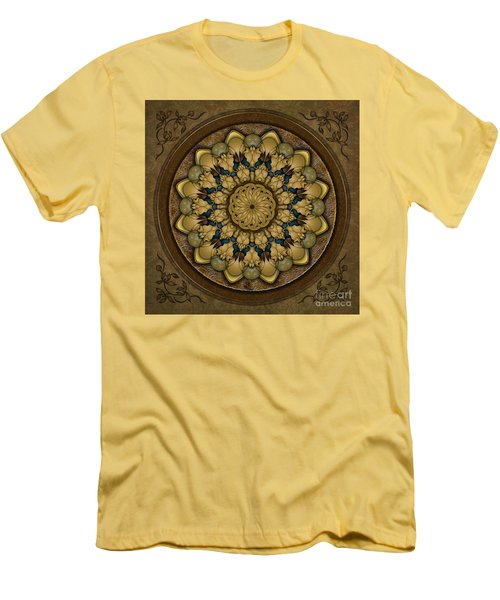 Mandala Earth Shell Men's T-Shirt (Athletic Fit)