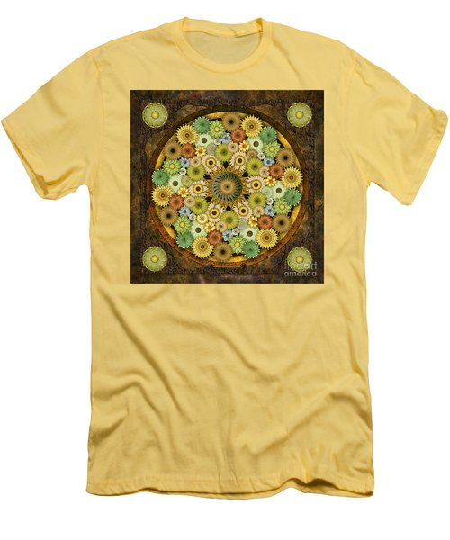 Mandala Stone Flowers Men's T-Shirt (Athletic Fit)