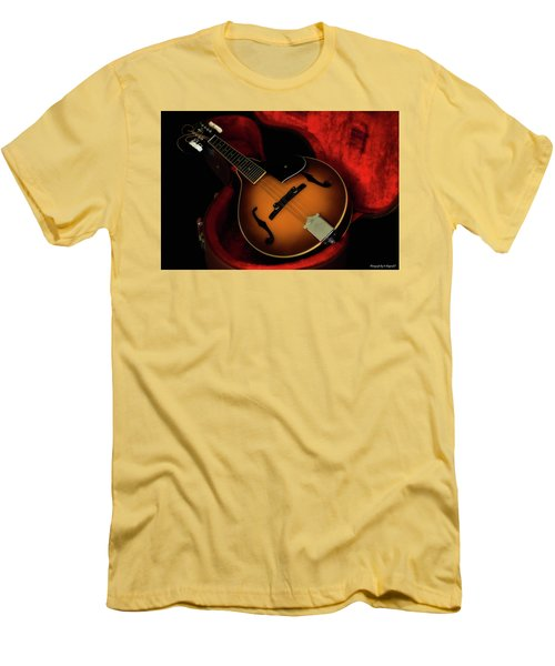 Mandolin Guitar 66661 Men's T-Shirt (Slim Fit) by Kevin Chippindall