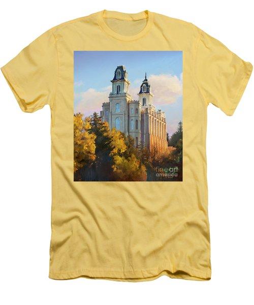 Manti Temple Tall Men's T-Shirt (Slim Fit) by Rob Corsetti