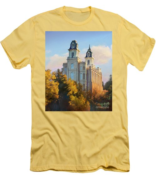 Manti Temple Tall Men's T-Shirt (Athletic Fit)