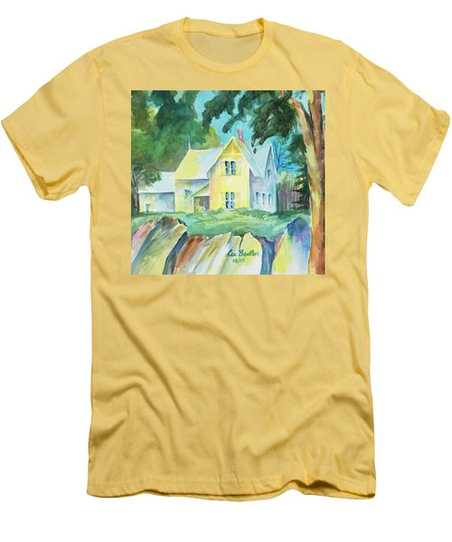 Marblehead Cottage Men's T-Shirt (Slim Fit) by Lee Beuther