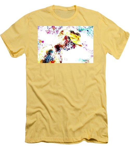 Maria Sharapova Paint Splatter 4p                 Men's T-Shirt (Athletic Fit)