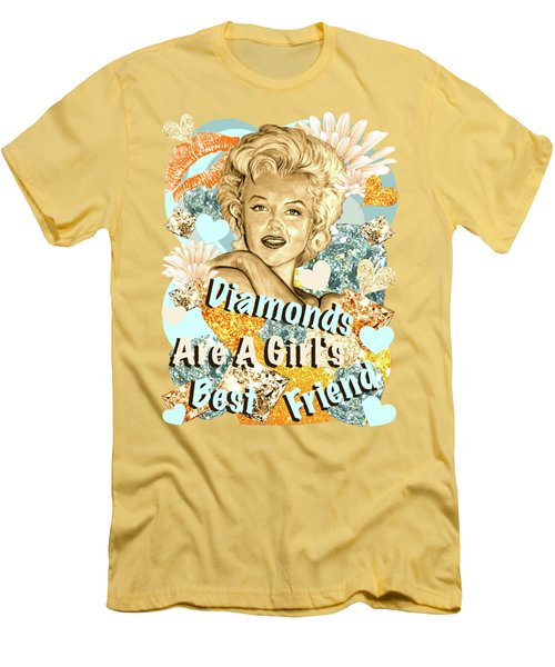 Marilyn Diamonds Are A Girls Best Friend Men's T-Shirt (Slim Fit) by Gitta Glaeser