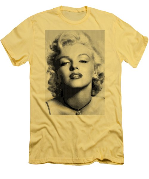 Marilyn Monroe - Bw Hexagons Men's T-Shirt (Athletic Fit)