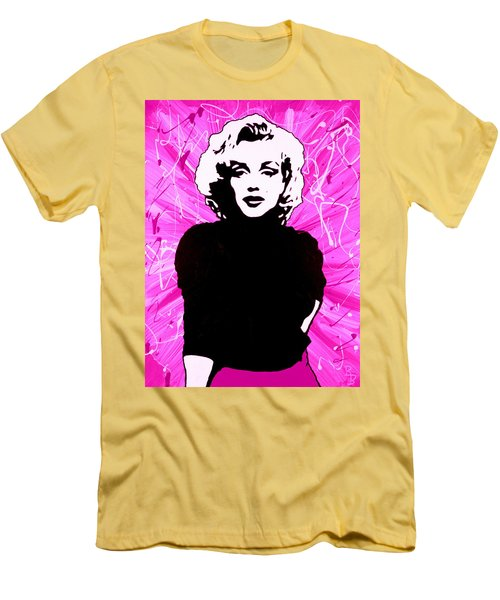 Marilyn Monroe In Hot Pink Men's T-Shirt (Athletic Fit)