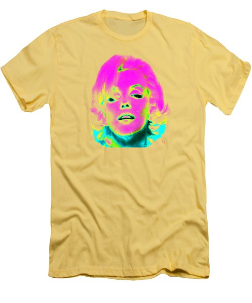 Marilyn Monroe In Psychedelic Color Men's T-Shirt (Athletic Fit)