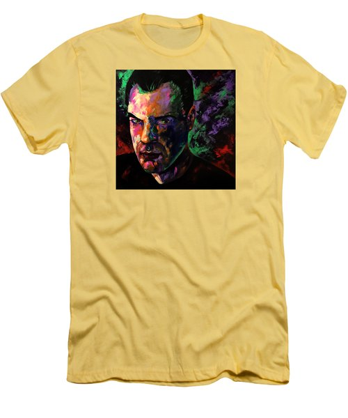 Men's T-Shirt (Slim Fit) featuring the painting Mark Webster Artist by Mark Webster