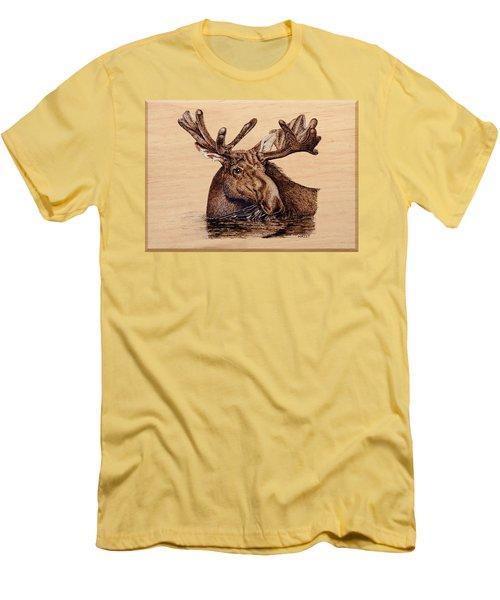 Marsh Moose Men's T-Shirt (Slim Fit) by Ron Haist