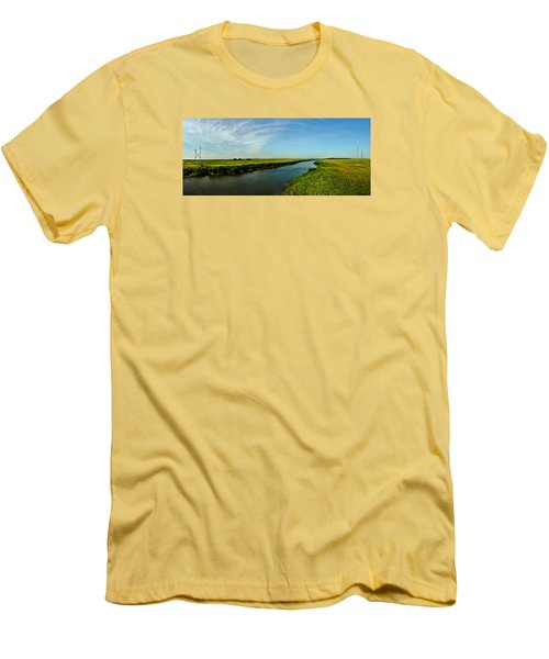 Men's T-Shirt (Slim Fit) featuring the photograph Marshes Of Glynn by Laura Ragland