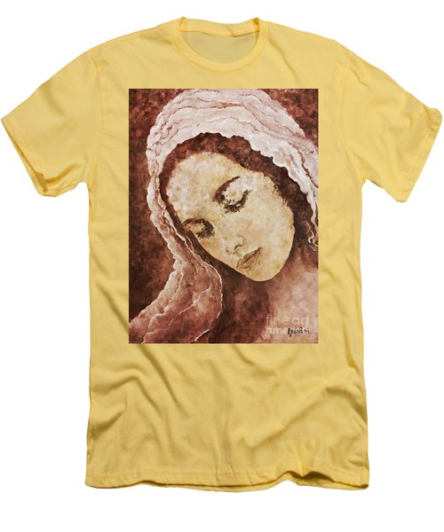 Mary Mother Of Jesus Men's T-Shirt (Slim Fit) by AmaS Art