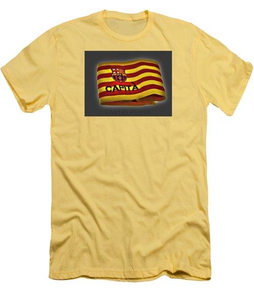 Men's T-Shirt (Slim Fit) featuring the photograph Mas Que Un Capitan - Carles Puyol by Juergen Weiss
