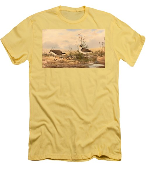 Masked Lapwing Men's T-Shirt (Slim Fit) by Mountain Dreams