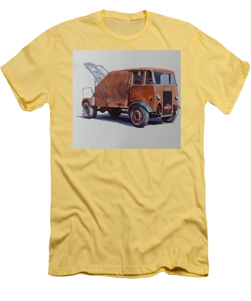 Men's T-Shirt (Slim Fit) featuring the painting Maudslay Wrecker. by Mike  Jeffries