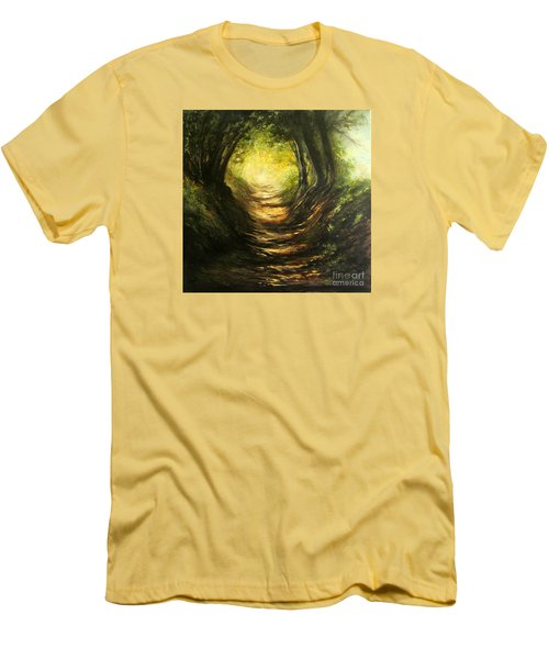 May Your Light Always Shine Men's T-Shirt (Slim Fit) by Valerie Travers