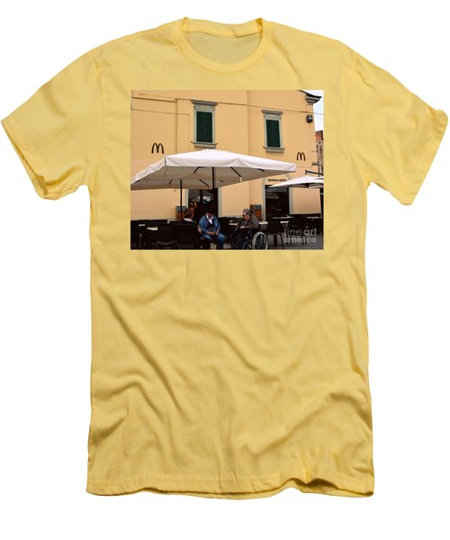 Mcdonald's In Pisa, Italy Men's T-Shirt (Athletic Fit)
