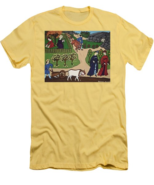 Medieval Fall Men's T-Shirt (Slim Fit) by Stephanie Moore