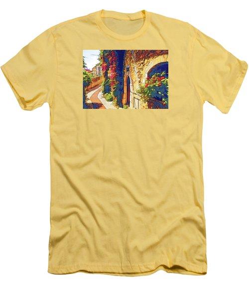 Men's T-Shirt (Slim Fit) featuring the photograph Medieval Saint-paul-de-vence by Dennis Cox WorldViews