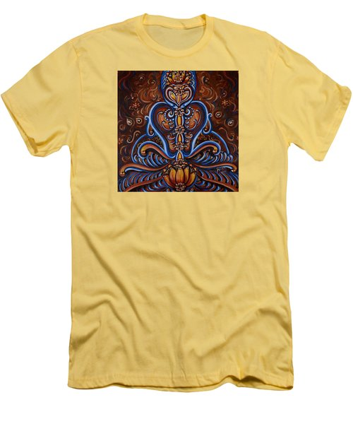 Men's T-Shirt (Slim Fit) featuring the painting Meditation by Harsh Malik
