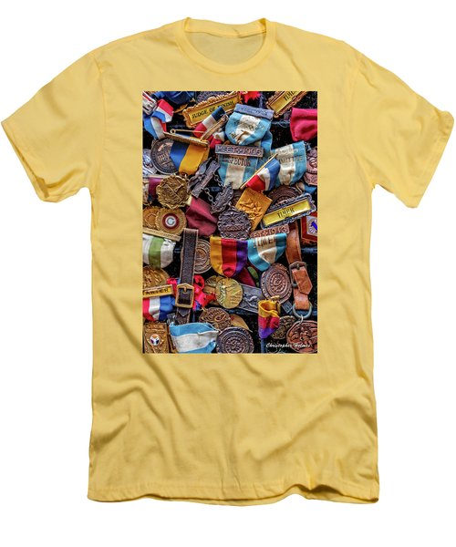 Men's T-Shirt (Slim Fit) featuring the photograph Meet Medals by Christopher Holmes