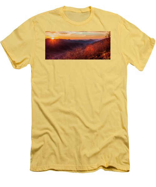 Melody Of Autumn Men's T-Shirt (Slim Fit) by Karen Wiles