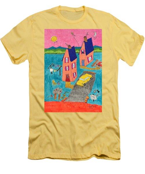 Melon Houses Men's T-Shirt (Athletic Fit)
