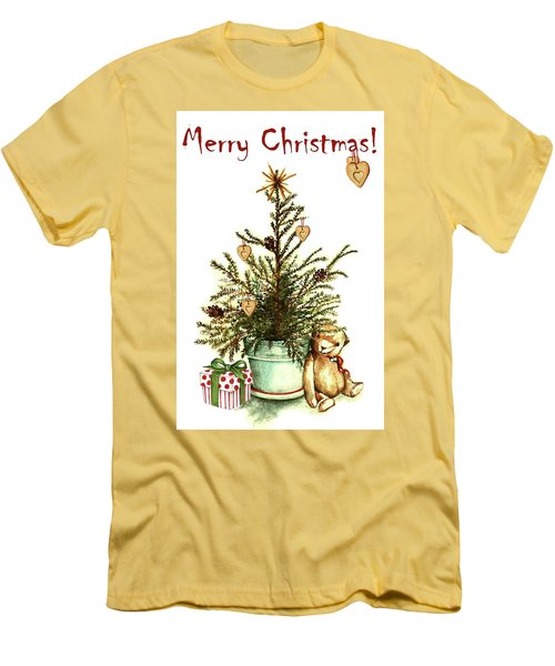 Men's T-Shirt (Slim Fit) featuring the painting Merry Christmas by Heidi Kriel