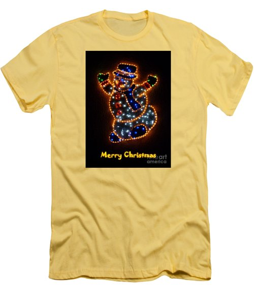 Merry Christmas Men's T-Shirt (Slim Fit) by Jean Bernard Roussilhe