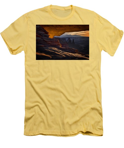 Mesa Arch Glow Men's T-Shirt (Slim Fit) by Jaki Miller