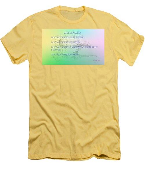 Metta Prayer Men's T-Shirt (Athletic Fit)