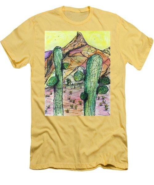 Mexican Desert Men's T-Shirt (Athletic Fit)