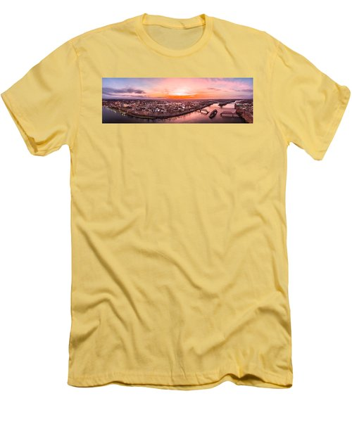 Men's T-Shirt (Slim Fit) featuring the photograph Middletown Connecticut Sunset by Petr Hejl