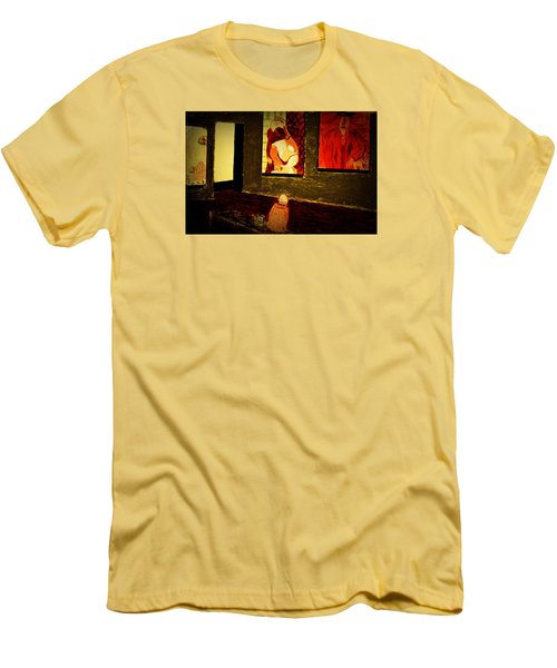 Men's T-Shirt (Slim Fit) featuring the painting Midnight With Pablo by Bill OConnor