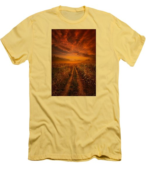 Miles And Miles Away Men's T-Shirt (Slim Fit) by Phil Koch