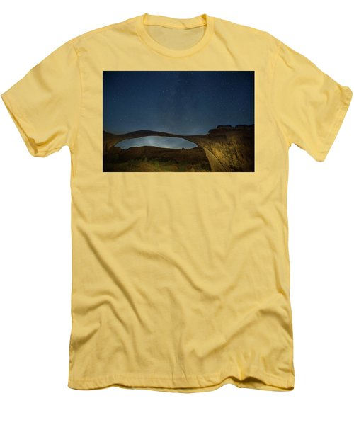 Milky Way Over Landscape Arch Men's T-Shirt (Athletic Fit)