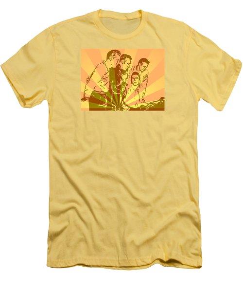 Million Dollar Quartet Pop Art Men's T-Shirt (Athletic Fit)
