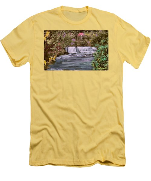 Men's T-Shirt (Slim Fit) featuring the digital art Millstream by John Selmer Sr