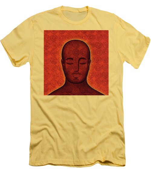 Men's T-Shirt (Slim Fit) featuring the mixed media Mind Circles by Gloria Rothrock