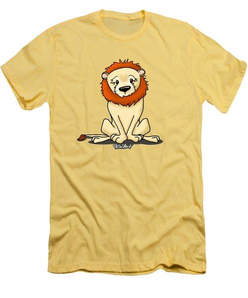 Lion Peaceful Reflection  Men's T-Shirt (Athletic Fit)