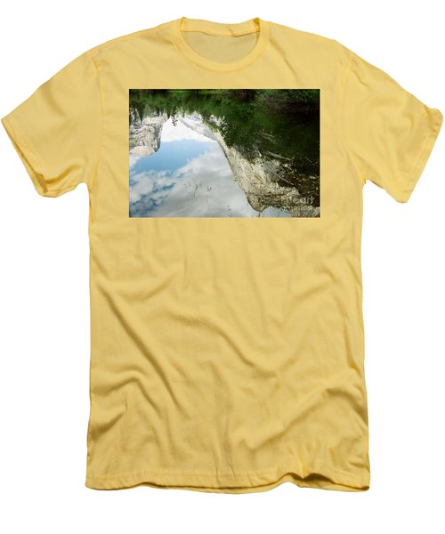 Mirrored Men's T-Shirt (Slim Fit) by Kathy McClure