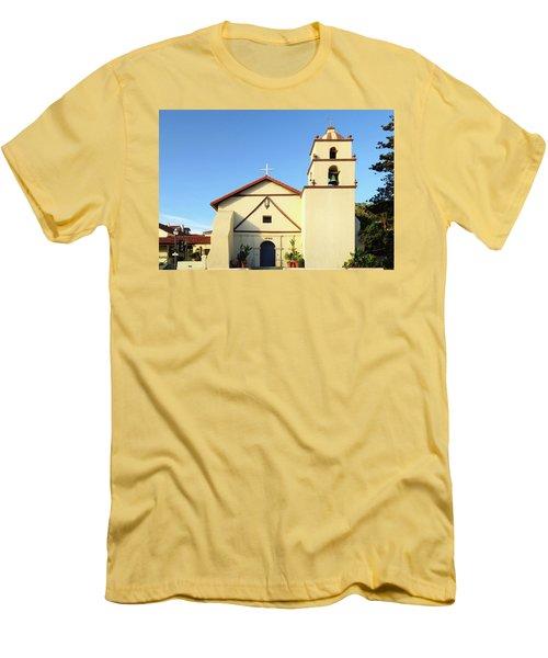 Mission San Buenaventura, Ventura, California Men's T-Shirt (Athletic Fit)