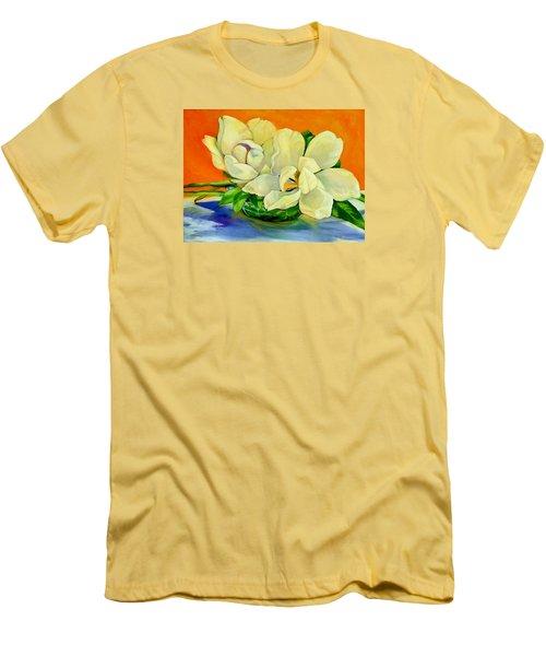 Mississippi Magnolias Men's T-Shirt (Slim Fit) by Jeanette Jarmon