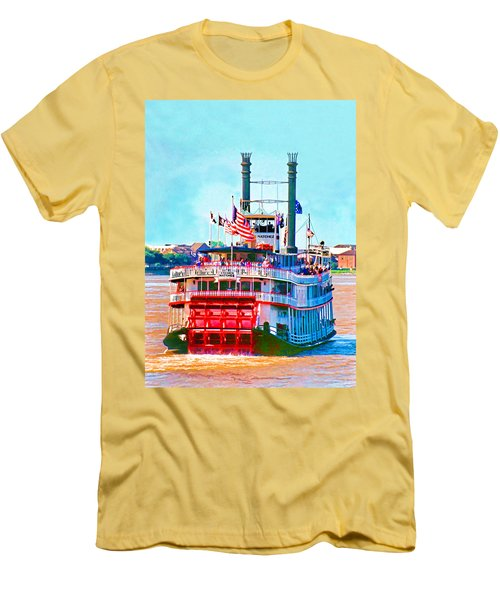 Mississippi Steamboat Men's T-Shirt (Athletic Fit)