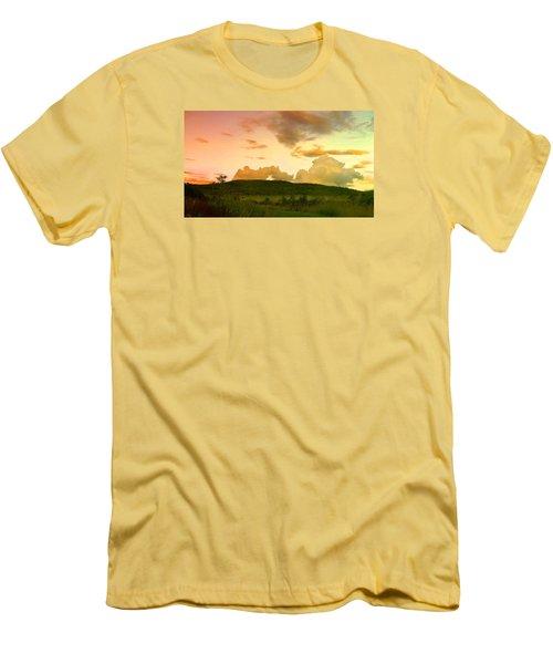 Misty Morning Sunrise Men's T-Shirt (Slim Fit) by Mike Breau