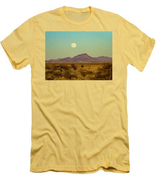 Mohave Desert Moon Men's T-Shirt (Athletic Fit)