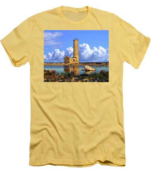 Mohawk Island Lighthouse Men's T-Shirt (Slim Fit) by Anthony Dezenzio